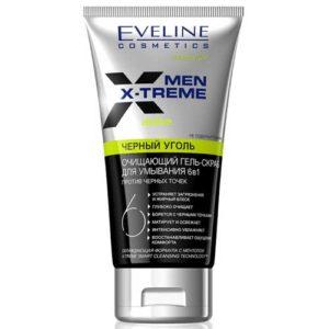 Eveline Men X-treme Гель-скраб для умывания очищающий 6 в 1 против чёрных точек, с ментолом (не содержит мыла), 150 мл 4