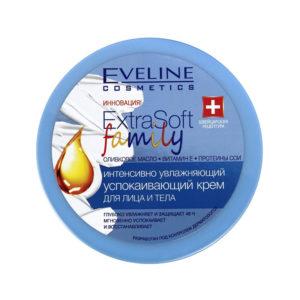 Eveline Extrasoft Family Крем интенсивно увлажняющий успокаивающий для всех типов кожи, 175 мл 41