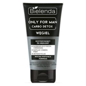 Bielenda Only For Man Гель для умывания очищающий Carbo Detox с активированным углем для загрязненной смешанной и жирной кожи с недостатками, 150 г 53
