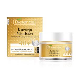 Bielenda Youth Therapy 40+ Крем дневной/ночной С муцином улитки, 24К золотом, гиалуроновой кислотой против морщин увлажняющий, для зрелой кожи, 50 мл 56