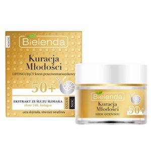Bielenda Youth Therapy 50+ Крем дневной/ночной С Муцином улитки, 24К золотом, коллагеном против морщин подтягивающий, для зрелой, сухой кожи, 50 мл 57