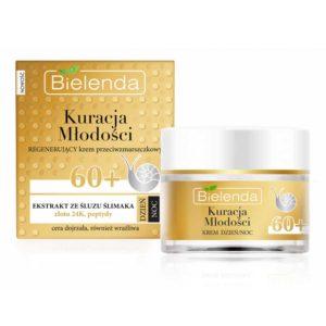 Bielenda Youth Therapy 60+ Крем дневной/ночной с муцином улитки, 24К золотом, пептидами против морщин восстанавливающий, 50 мл 58