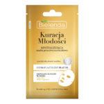 Bielenda Youth Therapy Маска тканевая против морщин с муцином улитки, 24К золотом, аргановым маслом, восстанавливающая, для зрелой и чувствительной кожи, 23 г 2