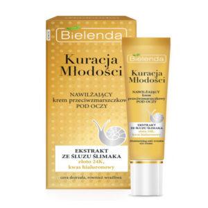 Bielenda Youth Therapy Крем для кожи вокруг глаз с муцином улитки, гиалуроновой кислотой против морщин увлажняющий, 15 мл 60