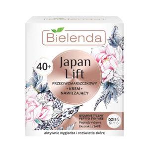 Bielenda Japan Lift 40+ Крем дневной увлажняющий против морщин SPF6 с пептидами Syn-Ake, риса, экстрактом саке, для требовательной тонкой сухой зрелой кожи, 50 мл 41