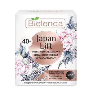 Bielenda Japan Lift 40+ Крем-концентрат ночной разглаживающий против морщин с пептидами Syn-Ake, риса, экстрактом саке, для требовательной тонкой сухой зрелой кожи, 50 мл 42