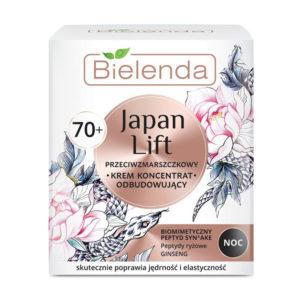 Bielenda Japan Lift 70+ Крем ночной восстанавливающий против морщин с пептидами Syn-Ake, риса, экстрактом женьшеня, для требовательной тонкой, сухой, зрелой кожи, 50 мл 48