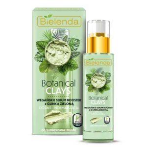 Bielenda Botanical Clays Веганская сыворотка-бустер день/ночь с зелёной глиной и чистым соком алоэ вера, для комбинированной и жирной кожи, 30 мл 1