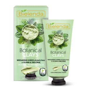 Bielenda Botanical Clays Веганская сыворотка-бустер день/ночь с зелёной глиной и чистым соком алоэ вера, для комбинированной и жирной кожи, 30 мл 30