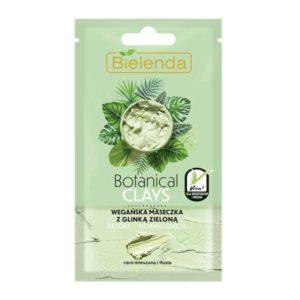 Bielenda Botanical Clays Веганская маска с зелёной глиной и чистым соком алоэ вера, для комбинированной и жирной кожи, 8 г 24