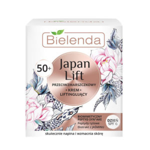 Bielenda Japan Lift 50+ Лифтинг-крем против морщин SPF6 с пептидами Syn-Ake, риса, экстрактом жасмина, 50 мл 44