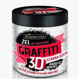Bielenda Graffiti 3D Гель для волос Extra Strong с чёрной репой и гиалуроновой кислотой, 250 г 3