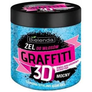 Bielenda Gfaffiti 3D Гель для волос Strong с гиалуроновой кислотой и кератином, 250 г 1
