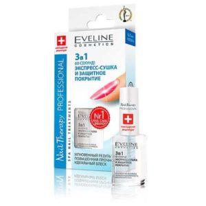 Eveline Экспресс-сушка и защитное покрытие для ногтей 3 в 1, 12 мл 2
