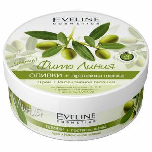 """Eveline Крем """"интенсивное питание"""" оливки + протеины шёлка, 210 мл 7"""