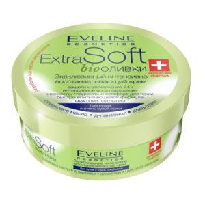 Eveline Extrasoft bio оливки Крем эксклюзивный интенсивно восстанавливающий для сухой и очень сухой кожи, 200 мл 6