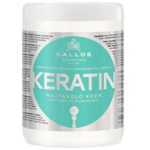 Kallos Cosmetics Keratin Крем-маска для сухих, повреждённых и химически обработанных волос с кератином и экстрактом молочного протеина, 1000 мл 82