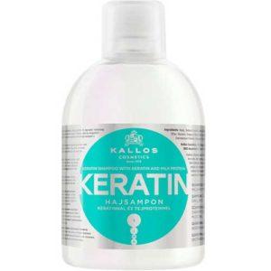 Kallos Cosmetics Keratin Шампунь для сухих, повреждённых и химически обработанных волос с кератином и экстрактом молочного протеина, 1000 мл 15