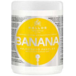 Kallos Cosmetics Banana Маска укрепляющая для волос с мульти-витаминным комплексом и экстрактом банана, 1000 мл 60