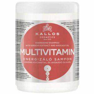 Kallos Cosmetics Multivitamin Маска для волос мульти-витаминная энергетическая с экстрактом женьшеня и маслом авокадо, 1000 мл 1