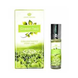 Crown Perfumes Духи масляные для женщин Green Tea Зелёный чай цитрусовый, зелёный, 6 мл 2