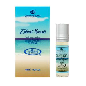 Crown Perfumes Духи масляные для женщин Zahrat Hawaii Гавайский цветок сладкий, цветочный, древесный, 6 мл 10