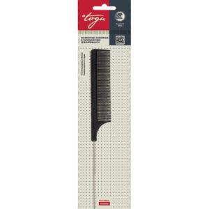 Togu Гребень для проборов с металлическим разделителем (чёрный пластик), 205 мм 5
