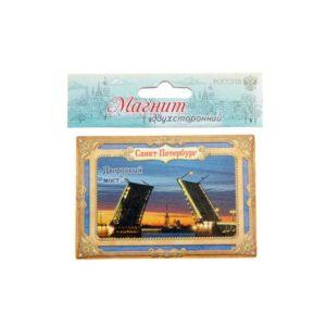 Магнит двухсторонний Санкт-Петербург. Мосты, 5.5 х 8 см 1