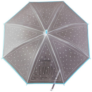 Зонт-трость детский Дольки лимона, полуавтомат R45, 8 спиц, пвх 1