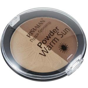 Rimalan Пудра бронзатор (оттенок загара) 2-х цв Powder Warm Sun, P45, тон 02, 12 г 4