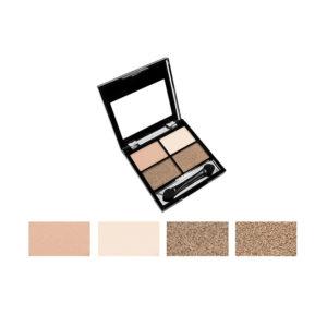 Rimalan Бархатные тени для век 4-х цветные Quartet Velvet Eye Shadow, EV3004, набор 01 9