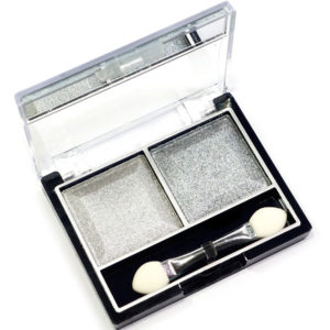 Mildlook Тени для век 2 цвета Eyeshadow, ES 0 5022, тон 02 серебро+серый, 6 г 3