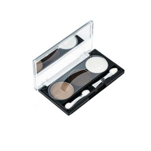 Rimalan Набор для коррекции Бровей для брюнеток (тени 6 г, крем воск 3 г, трафареты) Eye Brow Styling set, EB 3053 01 3