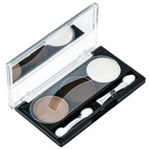Rimalan Набор для коррекции Бровей для брюнеток (тени 6 г, крем воск 3 г, трафареты) Eye Brow Styling Set, EB 3053 01 5