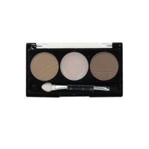 Rimalan Набор для коррекции Бровей для блондинок (тени 6 г, крем воск 3 г, трафареты) Eye Brow Styling Set, EB 3053 02 5