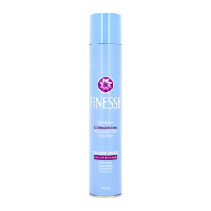 Finesse Лак для волос сильная фиксация, без отдушки, без силиконов, 400 мл голубой 34