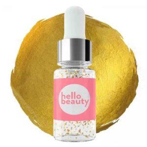 Hellobeauty Сыворотка золотая перед макияжем с экстрактом красной водоросли и 24К золотом, 10 мл 52