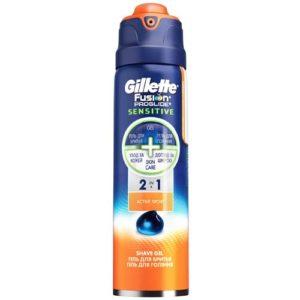 Gillette Гель для бритья Gillette Fusion proglide sensitive active sport, 170 мл 5