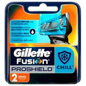 Gillette Fusion 5 ProShield Chill Кассеты сменные для безопасных бритв, 2 шт 17