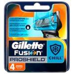 Gillette Fusion 5 ProShield Chill Кассеты сменные для безопасных бритв, 4 шт 2