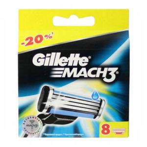 Gillette Mach3 Кассеты сменные для безопасных бритв (8 шт) 25