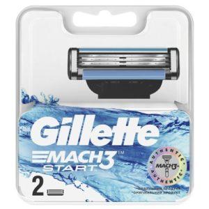 Gillette Сменные кассеты Gillette Mach3 Start, 2 шт 1