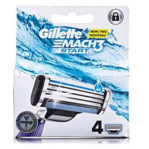 Gillette Mach3 Start Кассеты сменные для безопасных бритв (4 шт) 1