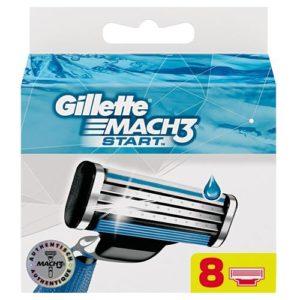 Gillette Mach3 Start Кассеты сменные для безопасных бритв (8 шт) 3