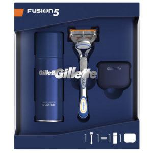 Gillette Набор для мужчин настоящему чемпиону (гель для бритья, 100 мл; бритва со сменной кассетой, защитный дорожный колпачок) 3