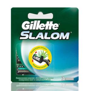 Gillette Slalom Кассеты сменные для безопасных бритв (3 шт) 1