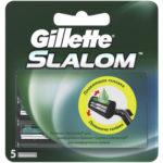 Gillette Slalom Кассеты сменные для безопасных бритв (5 шт) 2