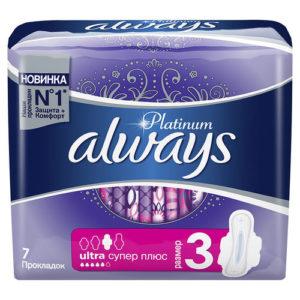 Always Platinum Ultra Прокладки гигиенические женские ультратонкие Super Plus (7 шт), размер 3 17