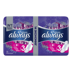Always Platinum Ultra Прокладки гигиенические женские ультратонкие Super Plus (14 шт), размер 3 1