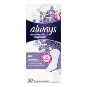 Always Прокладки гигиенические женские ароматизированные на каждый день (20 шт), размер 2 3